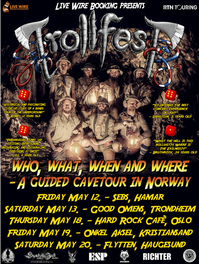 trollfest tour norway2017